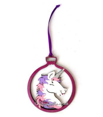 Unicorn Christmas Tree Bauble