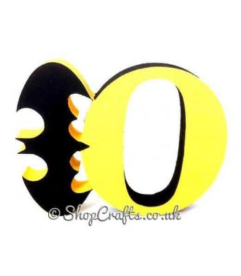 Bat themed 18mm thick Freestanding Letter * More Designs Available