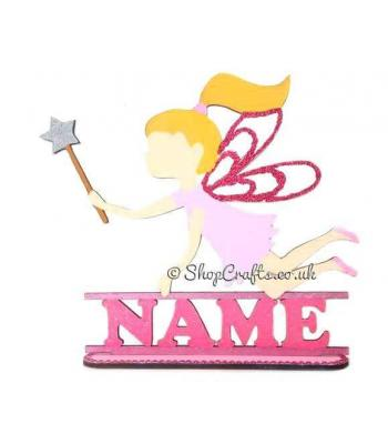 Fairy Shape Personalised with name on a Stand *More Designs Available