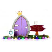 Tooth Fairy Door and Garden With Coin Holders on Stand