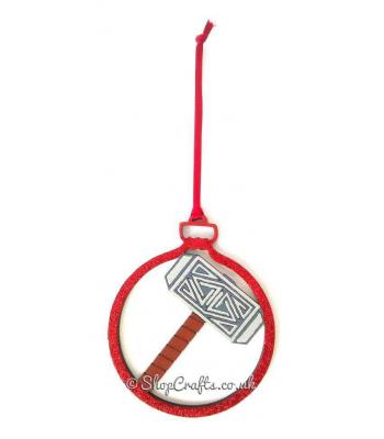 Thunderbolt Protector's Superhero Hanging Christmas Tree Bauble *More Designs Available