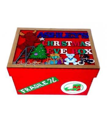 Reindeer Design Personalised Christmas Eve Box