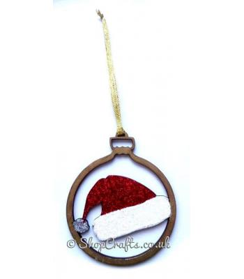 Santa Claus Hat Christmas Tree Bauble