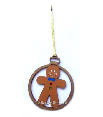 Gingerbread Man Christmas Tree Bauble