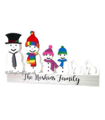 Create Your Own 18mm thick Freestanding Snowman Family