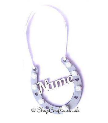 Bridesmaid's Personalised Mini Wedding Horseshoe Hanging