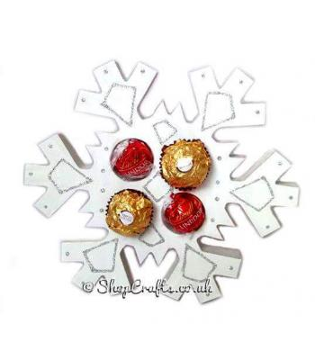 Snowflake 18mm thick freestanding Chocolate Gift Holder