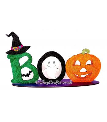 Boo Halloween Sign on stand