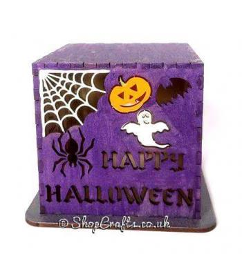 Happy Halloween Design Tea Light Box * More Designs Available