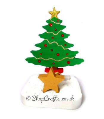 Christmas Tree 18mm thick Freestanding Reusable Stocking Holder