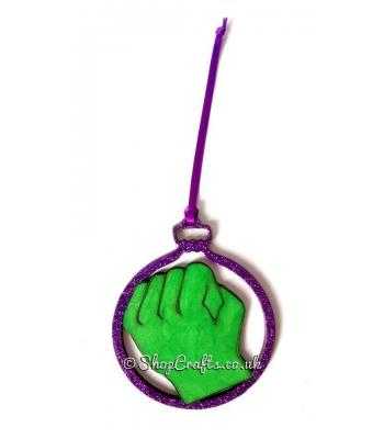 Model of Strength Superhero Hanging Christmas Tree Bauble - More Designs Available