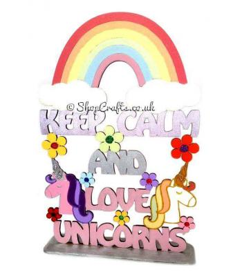 Keep Calm and Love Unicorns Hanging Sign * More Designs Available