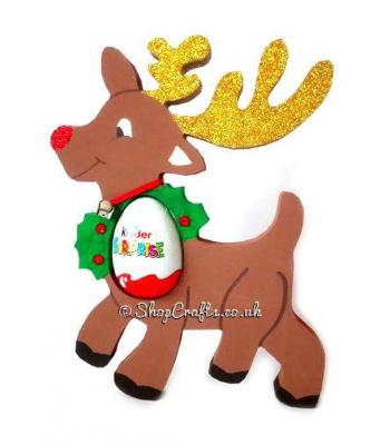 Reindeer 18mm thick freestanding Chocolate Kinder Egg Holder - other designs available
