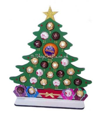 Reusable Christmas Tree 6mm Thick Ferrero Rocher / Lindt Chocolate & Terry's Orange Advent Calendar