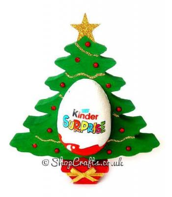 Christmas Tree 18mm thick Freestanding Chocolate Kinder Egg Holder