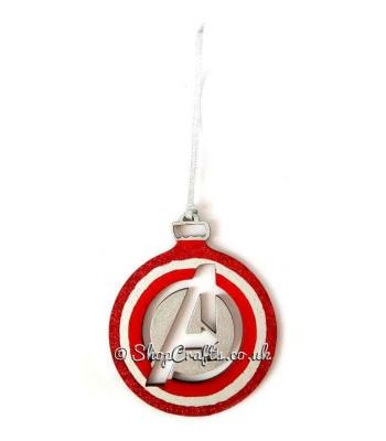 A* Team Superhero Hanging Christmas Tree Bauble - More Designs Available