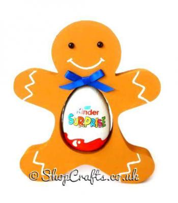 Gingerbread man 18mm thick Freestanding Chocolate Kinder Egg Holder