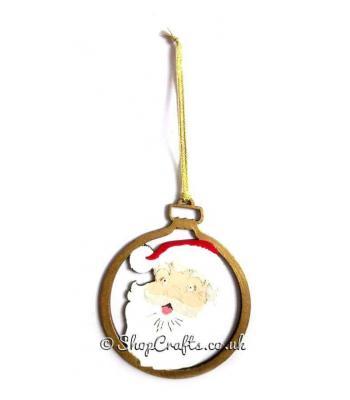 Jolly Santa Claus Christmas Bauble