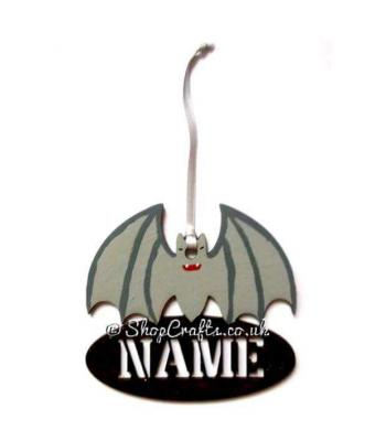 Personalised Bat Halloween Tag and Reusable Decoration *More Designs Available
