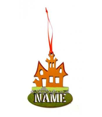 Personalised Haunted House Halloween Tag and Reusable Decoration *More Designs Available