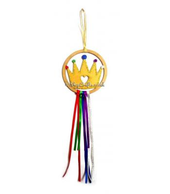 Mini Hanging Royal Crown Dream Catcher