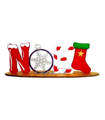 Reusable Detailed Noel word on a Stand