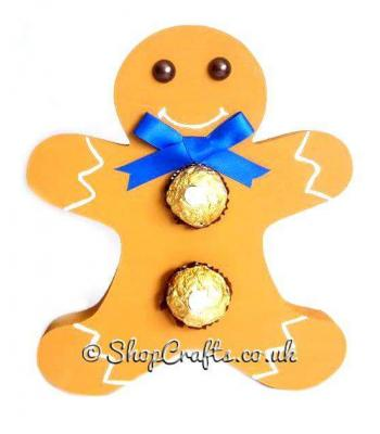 Gingerbread man 18mm thick Freestanding Chocolate Gift Holder