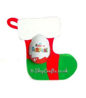 Christmas Stocking 18mm thick Freestanding Chocolate Kinder Egg Holder