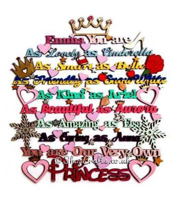 You Are Our Very Own Princess Hanging Quote