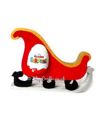 Christmas Sleigh 18mm thick Freestanding Chocolate Kinder Egg Holder