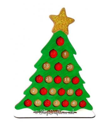 Christmas Tree Advent Countdown with a £1 Coin Holder on a stand *More Designs Available