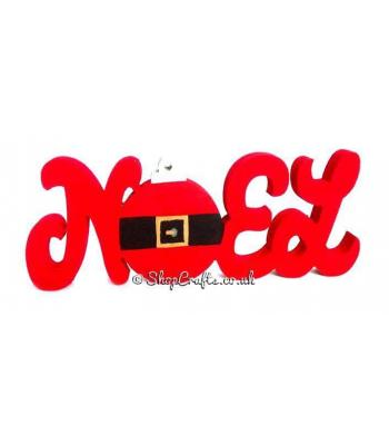 Freestanding 18mm thick Noel with Bauble feature