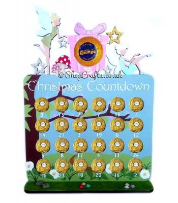Reusable Fairy 6mm Thick Ferrero Rocher /Lindt Chocolate & Terry's chocolate orange Advent Calendar
