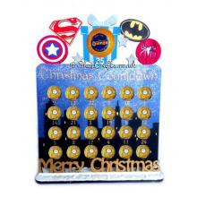 Reusable Superhero 6mm Thick Ferrero Rocher / Lindt Chocolate advent calendar with Merry Christmas