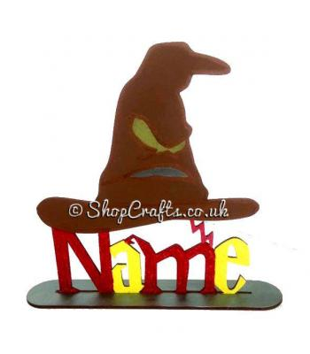 Wizard Themed Personalised with name on a Stand - More Designs Available