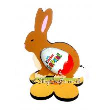 Easter Bunny Chocolate Kinder Egg Holder on Flower stand *More designs available.