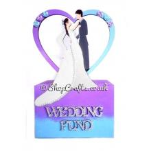 Mr & Mrs with heart frame Wedding Fund Money Box *More Designs Available