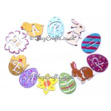 'Happy Easter' Hanging and Reusable Spring Easter Bunting