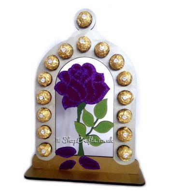 Refillable Rose Bell Jar 6mm Thick Ferrero Rocher /Lindt Chocolate Gift Holder