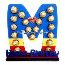 Refillable Letter 6mm Thick Ferrero Rocher /Lindt Chocolate Gift Holder with Happy Birthday Stand