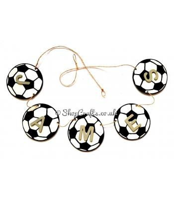 Personalised hanging Hexagonal patched Football Bunting - More Designs Available