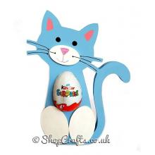 Freestanding Cat Kinder Egg Holder with 3D Nose and Feet - More Designs Available.