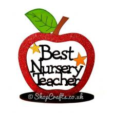 Best Nursery Teacher Apple On Stand - More Designs Available