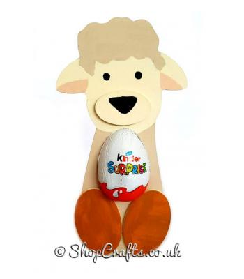 Freestanding Lamb Kinder Egg Holder with 3D Nose and Feet - More Designs Available.