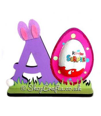 Personalised Refillable Letter Chocolate Kinder Egg Holder on stand *More designs available.