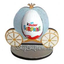 Refillable Royal Carriage Chocolate Kinder Egg Holder on stand *More designs available.