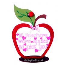 If Teachers Were Apples I'd Pick You - Framed Apple Quotation on stand * More Designs Available