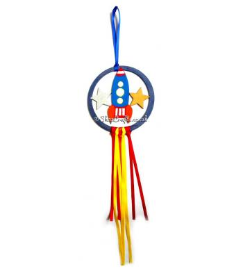 Mini Hanging Rocket Dream Catcher - More Designs Available