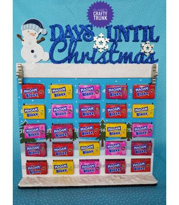Days Until Christmas with Snowman Maoam or Nerds Advent Calendar - More Designs Available