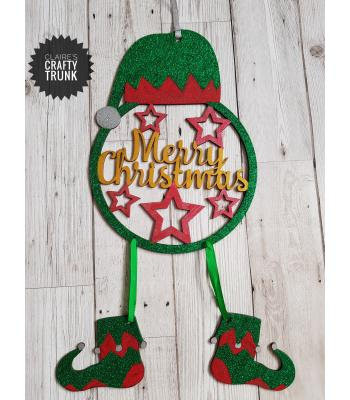 Merry Christmas Elf Dream Catcher with Hanging Shoes - More Designs Available